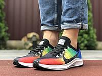 Кроссовки мужские Nike Zoom разноцветные, Найк Зум, дышащий материал, прошиты. Код SD-9588