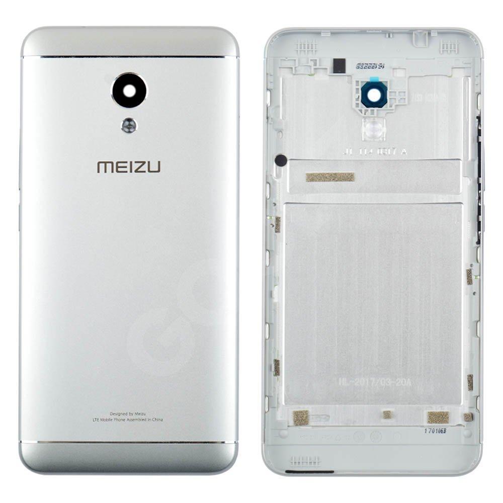 Задняя крышка для Meizu M5s, цвет серебро, оригинал