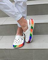 """Кроксы """"Rainbow"""" женские, фото 1"""