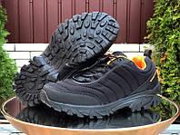 Мужские кроссовки зимние (нубук, термоплащевка) черные 41
