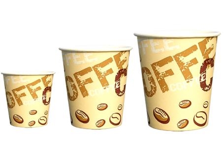Стакан бумажный однослойный Coffee, сoffee