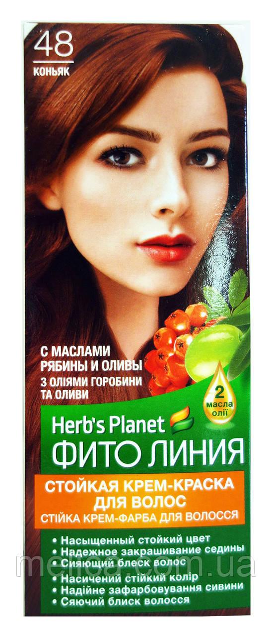 Стойкая крем-краска для волос Фито линия № 48 Коньяк