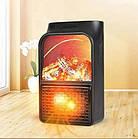 Обогреватель электрический портативный Flame Heater с пультом 1000 Вт, мини электрический камин с LCD дисплеем, фото 7