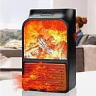 Обогреватель электрический портативный Flame Heater с пультом 1000 Вт, мини электрический камин с LCD дисплеем, фото 8