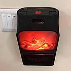 Обогреватель электрический портативный Flame Heater с пультом 1000 Вт, мини электрический камин с LCD дисплеем, фото 9