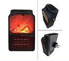 Обогреватель электрический портативный Flame Heater с пультом 1000 Вт, мини электрический камин с LCD дисплеем, фото 10