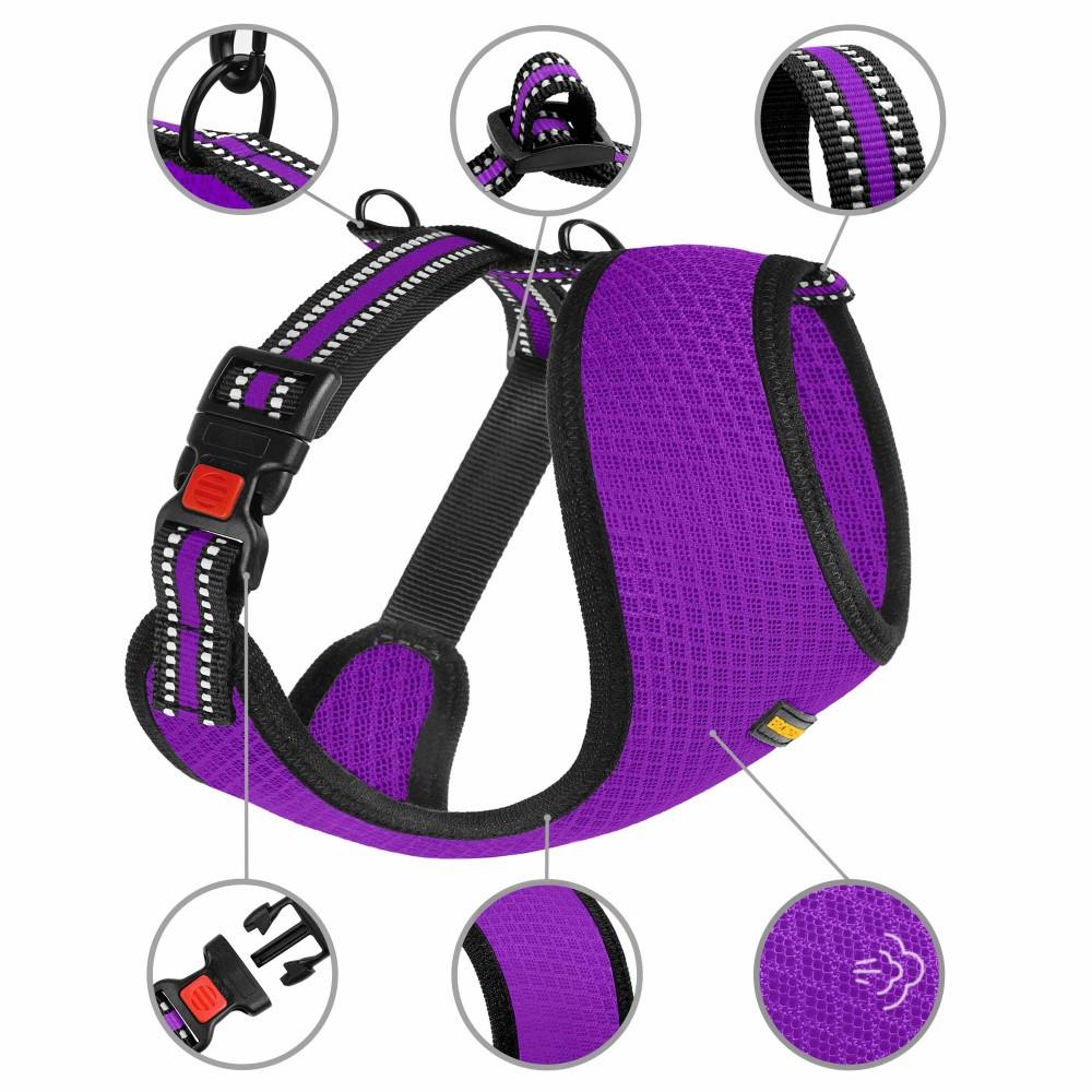 Шлея для Мелких Пород Собак BronzeDog Mesh Фиолетовая XS