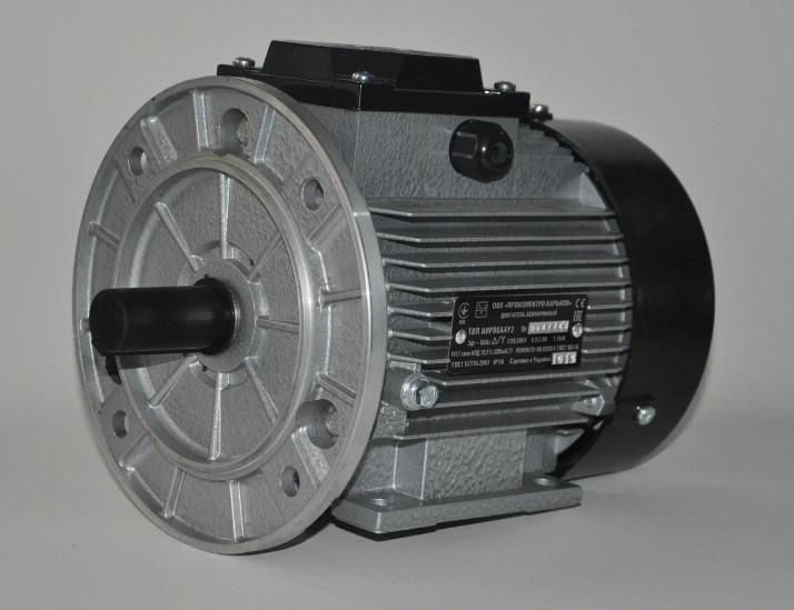 Электродвигатель трехфазный АИР 71 А4 (0,55кВт/1500об/мин) 380В, 220/380В лапа/фланец