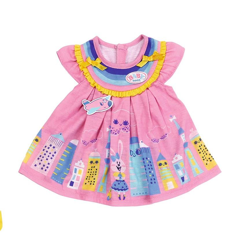 Платье для куклы Беби Борн Baby Born Милое платье (розовое) 828243-1