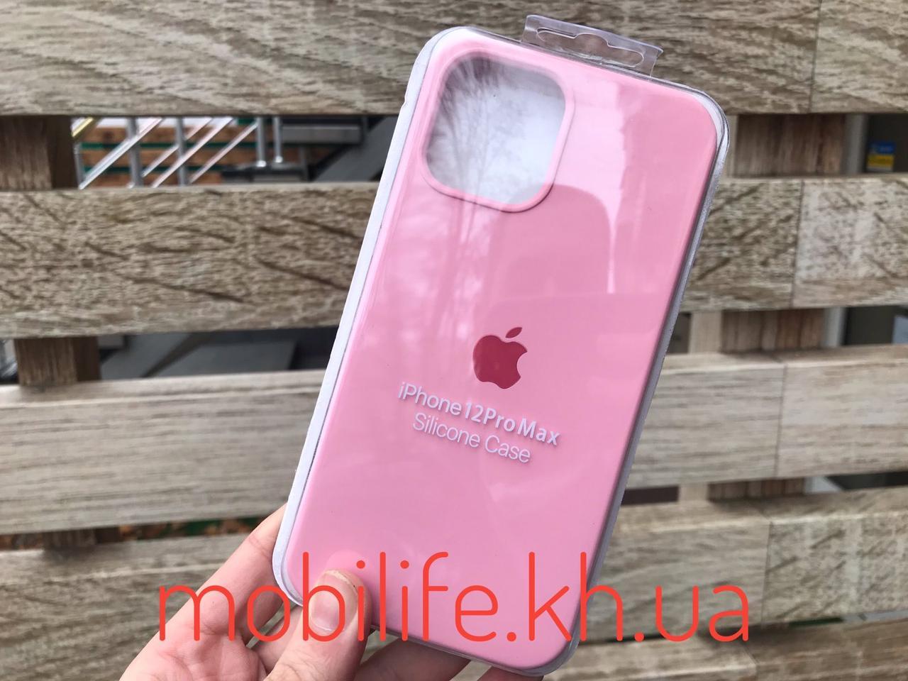 Silicon case iPhone 12 Pro Max/Нежно Розовый/