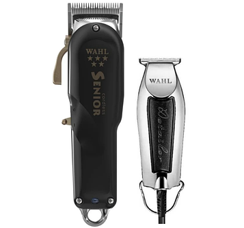 Набор машинок Wahl Combo 5 Black star (Senior Cordless + Detailer Black)