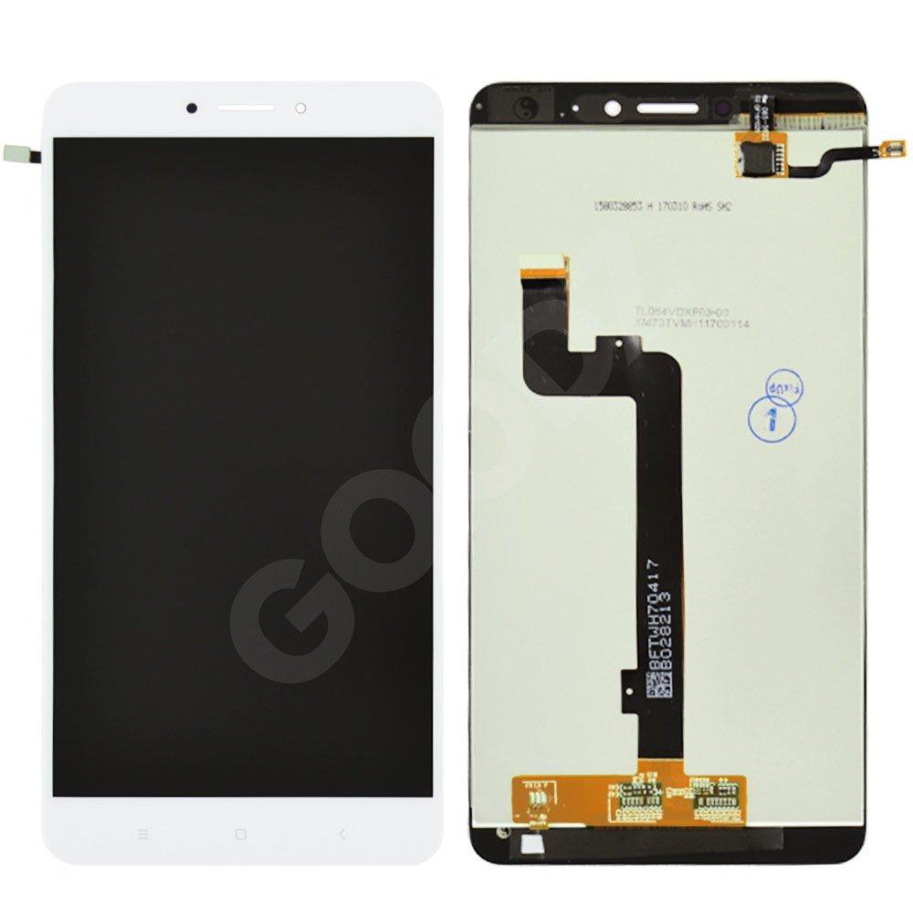 Дисплей Xiaomi Mi Max 2 с тачскрином в сборе, цвет белый, копия высокого качества