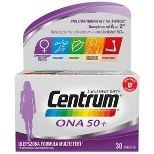 Phizer Centrum Centrum ONA 50+ витамины для женщин 30 табл