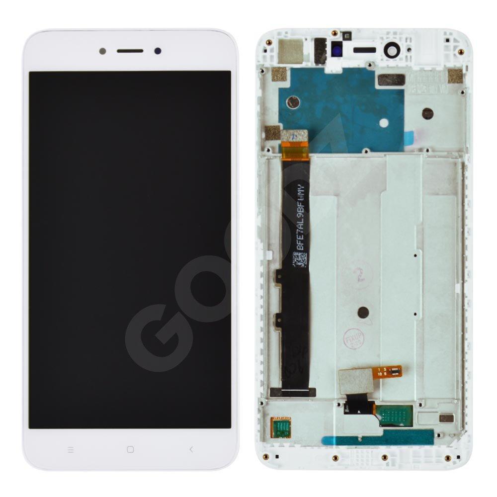 Дисплей для Xiaomi Redmi Note 5A, Y1 Lite с тачскрином и рамкой в сборе, цвет белый, оригинал