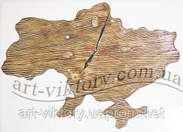 Часы карта Украины.