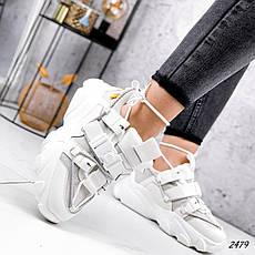 Кросівки жіночі білі, зимові з еко шкіри. Кросівки жіночі теплі білі з еко шкіри, фото 3