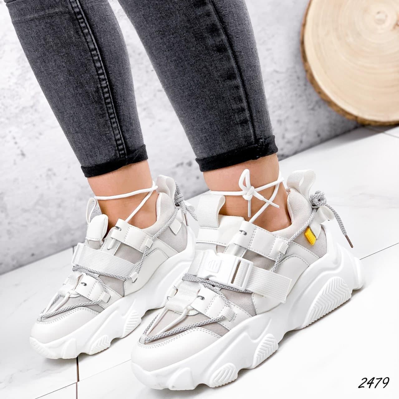 Кросівки жіночі білі, зимові з еко шкіри. Кросівки жіночі теплі білі з еко шкіри