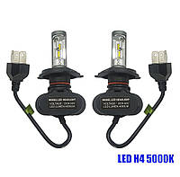 Светодиодные лампы Н-4. LED лампы H4 6000K 4000Lm. 12-24V \ Seoul Y19 CSP Корея