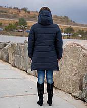 """Зимняя женская куртка на овчине """"VENACO"""" с капюшоном (большие размеры), фото 3"""