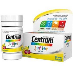 Pfizer Centrum Junior для детей 4+ малиново-лимонный вкус, 30 таблеток