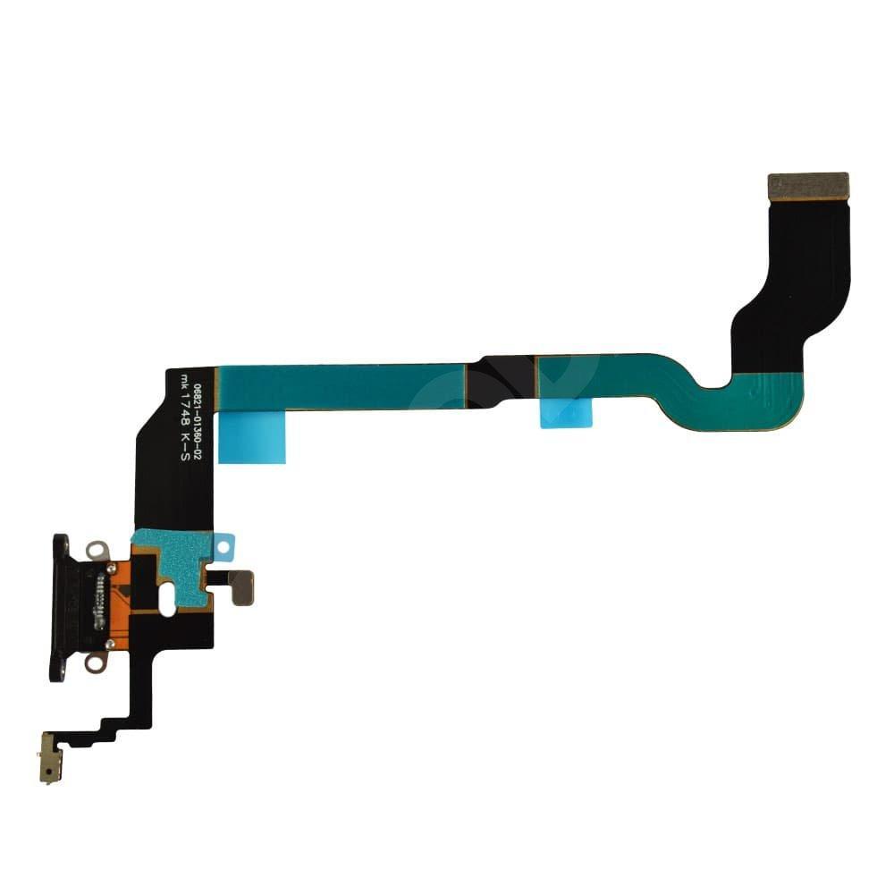 Шлейф с разъемом зарядки для iPhone X (5.8), цвет space grey