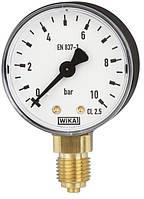 Манометр радиальный с трубкой Бурдона (медный сплав) стандартное исполнение WIKA