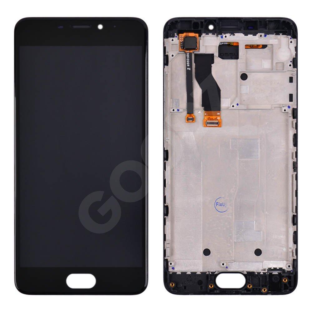 Дисплей для Meizu M5 Note с тачскрином и рамкой в сборе, цвет черный