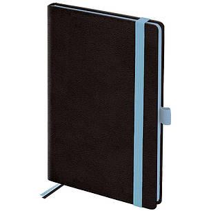 Еженедельник недатированный Brunnen Смарт Strong черный с голубым срезом, фото 2