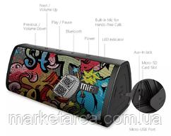 Колонка блютуз беспроводная Mifa A10+ black-graffiti 20 Вт IPX7 Bluetooth 5.0