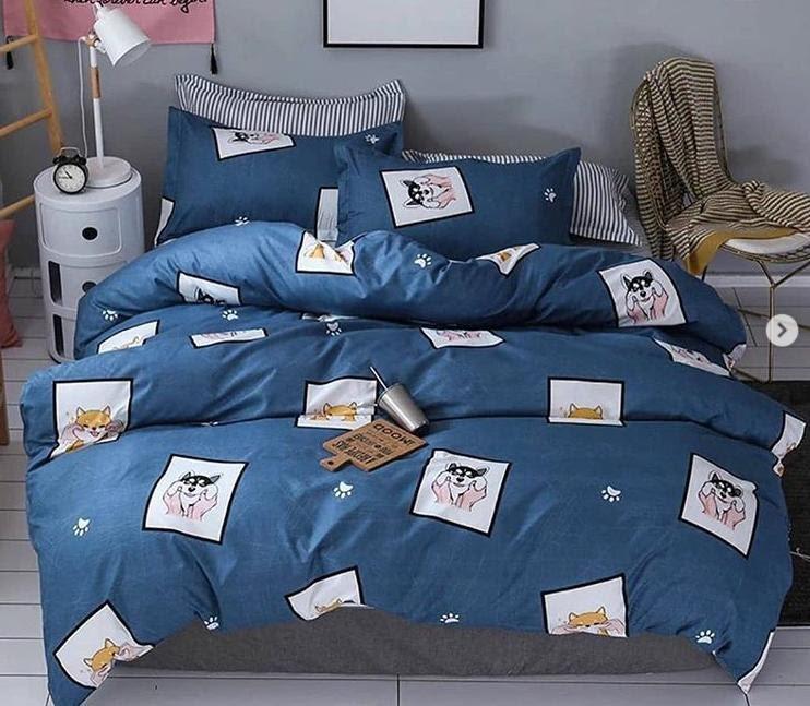 Качественное постельное белье с собачками, полуторка