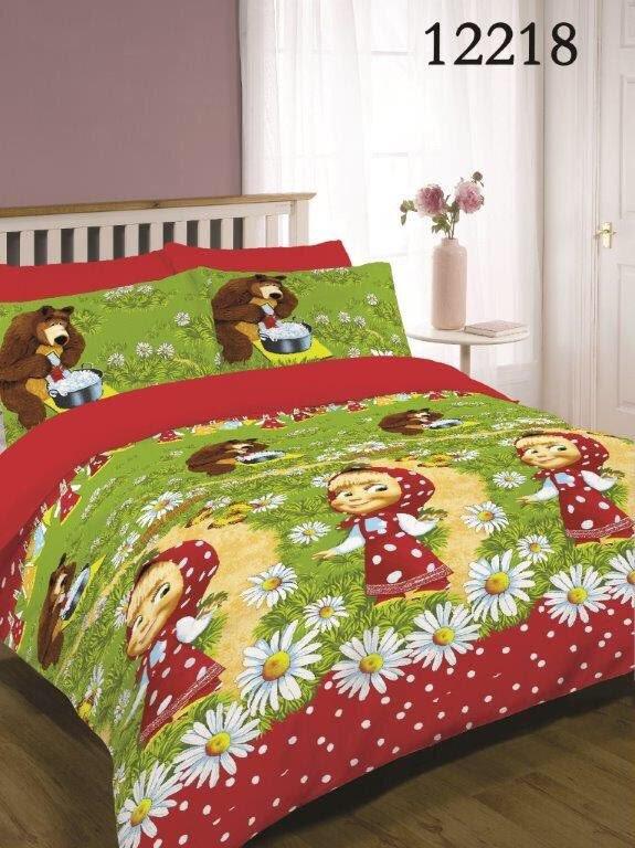 Качественное постельное белье Маша и Медведь