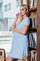 Голубая ночная сорочка для беременных и кормящих мам ALISA LIGHT NW-1.4.5, фото 1