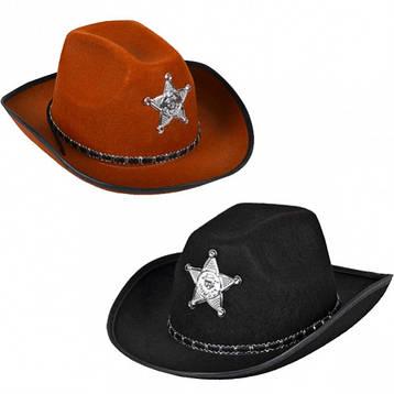 Шляпа Ковбоя - Шерифа - карнавальный головной убор., фото 2