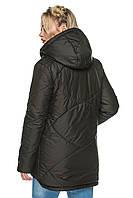 Подовжена куртка Агата Чорний Розмір 50