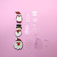 Шаблоны для бантиков Набор Дед Мороз 82