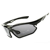 Велосипедные очки Bollfo BF011 поляризационные с диоптриями, черные