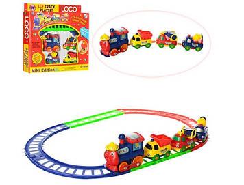 Залізниця на бат-ці,паровоз,машинки-вагончики, в кор-ці 25х23х4см №19016B(96)