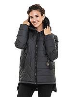 Удлиненная куртка Стелла Малахитовый, фото 1