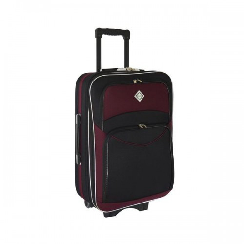 Дорожный чемодан на колесах Bonro Style Черно-вишневый Средний