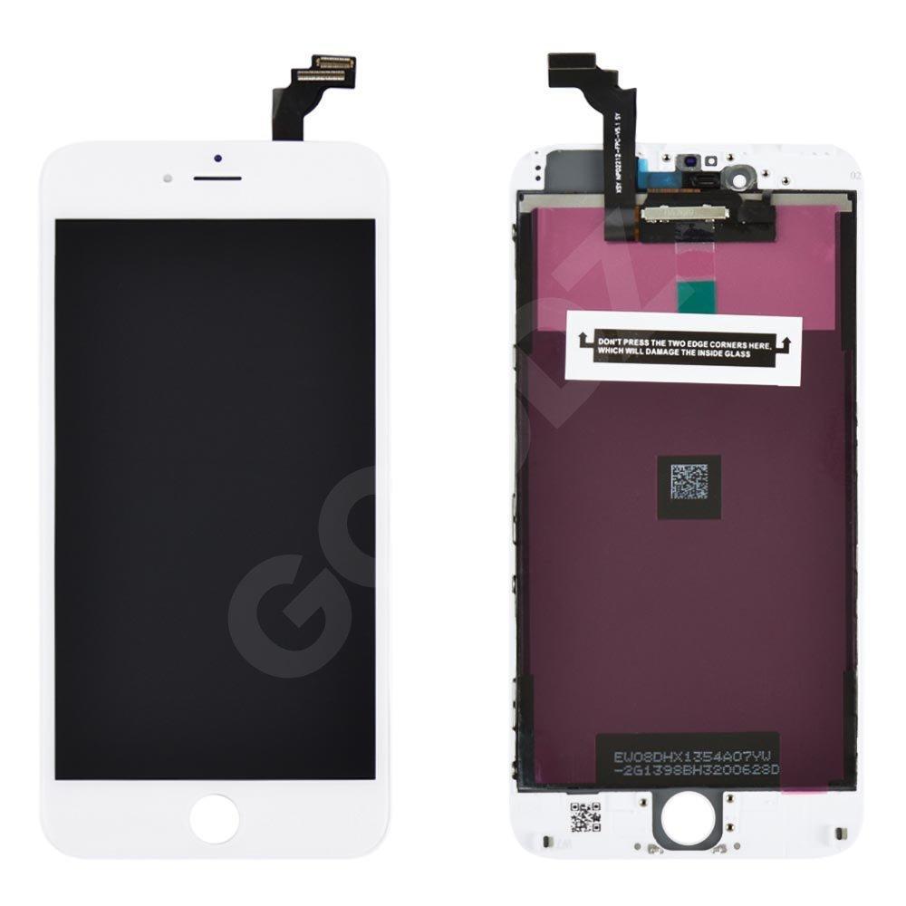 Дисплей для iPhone 6 Plus (5.5) с тачскрином в сборе, цвет белый, копия высокого качества Kingwo