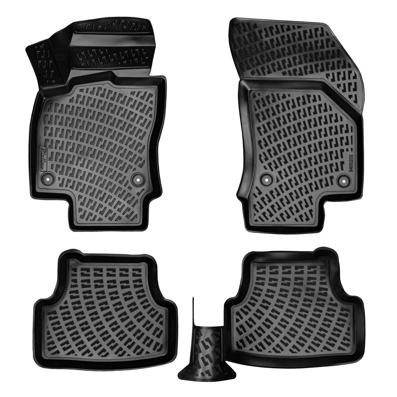Килимки автомобільні в салон RIZLINE для RENAULT Megane 4 Sedan 2015 - S-3021