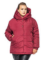 Короткая куртка Элла Бордовый