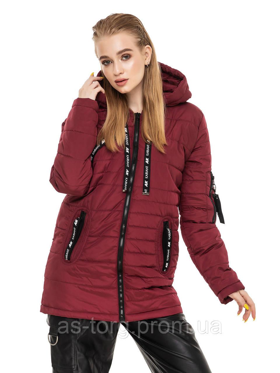 Удлиненная куртка Астара Бордовый