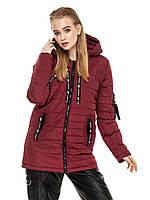 Удлиненная куртка Астара Бордовый, фото 1