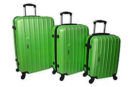 Набор дорожных чемоданов на колесах Siker Line набор 3 штуки Салатовый