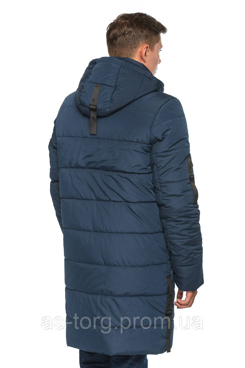 Длинная куртка Эрик Синий Размер 52