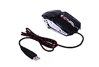 Игровая компьютерная мышь USB с RGB подсветкой Zornwee GX20 Black, геймерская