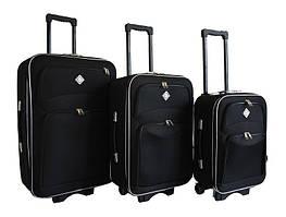 Набір валіз на колесах Bonro Style Чорний 3 штуки