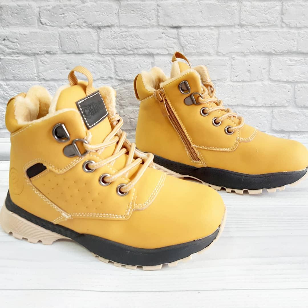 Черевички зимові для хлопчика на шнурівках та замочку. Розмір:27-32.