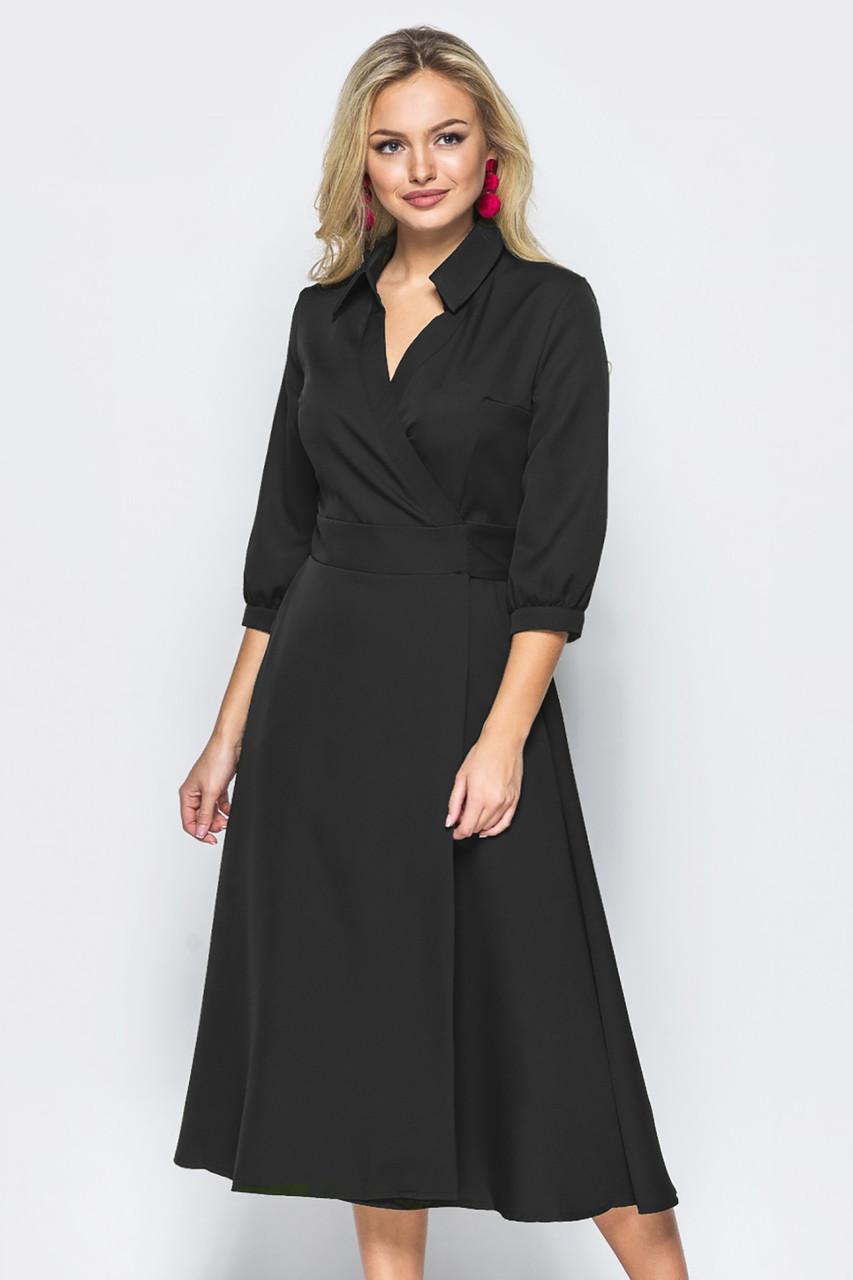 S, M, L, XL | Жіноче плаття на запах Grant, чорний